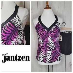 Jantzen ring back tankini swimsuit NWT